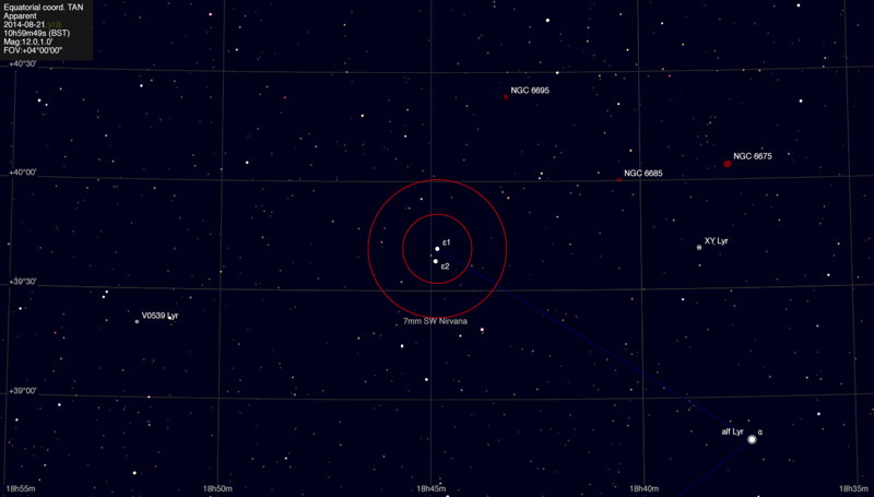 Finder map of the double-double (epsilon Lyrae)