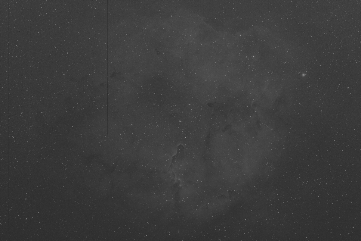 IC1396 stacked halpha over stretched image