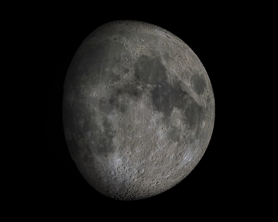 The Moon at 10.7 days into its lunation